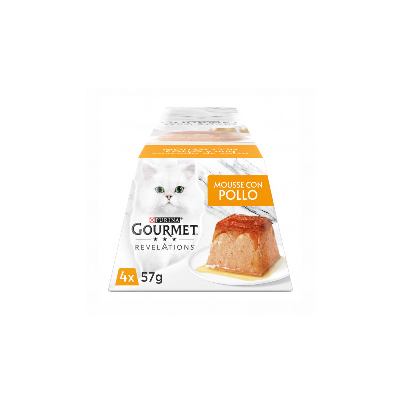 Purina Gourmet Revelations Mousse con Pollo 4x 57g