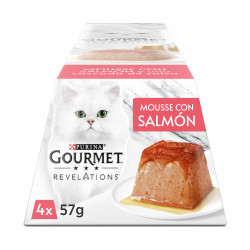Purina Gourmet Revelations Mousse con Salmón 4x 57g