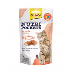 GimCat Nutri Pockets Snack Gatos Salmon y Omega 3-6