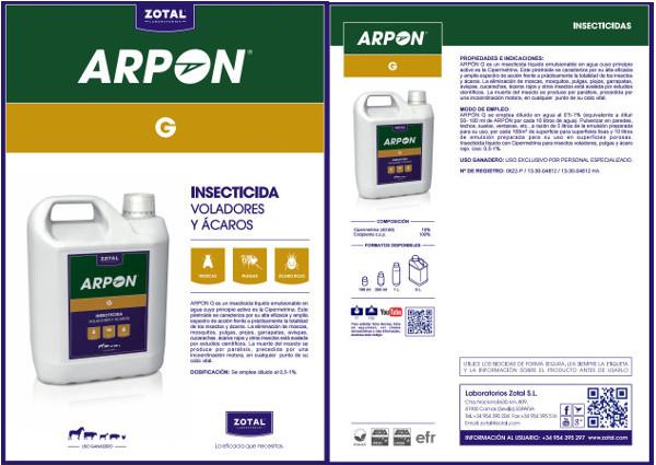 ARPON G Contra Pulgas, Garrapatas y Mosquitos