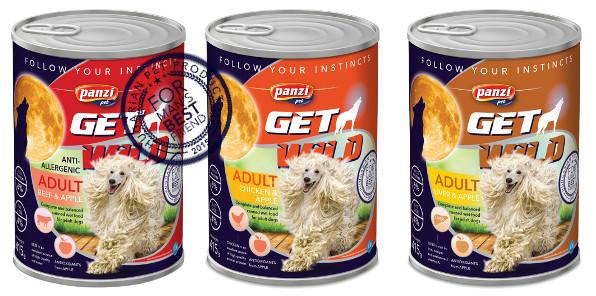 Lata Get Wild Perro Adulto Hígado y Manzana