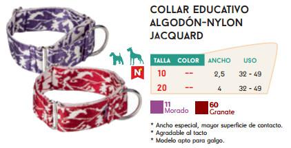 Collar Educativo de Algodón y Nylon Jacquard