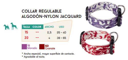 Collar Regulable de Algodón y Nylon Jacquard
