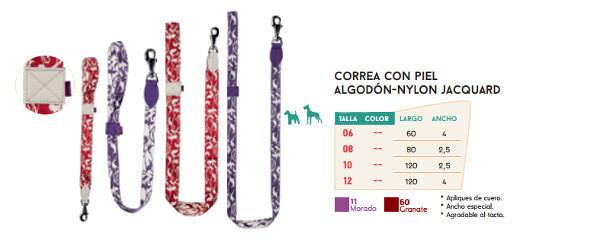 Correa de Algodón y Nylon con Cuero Jacquard