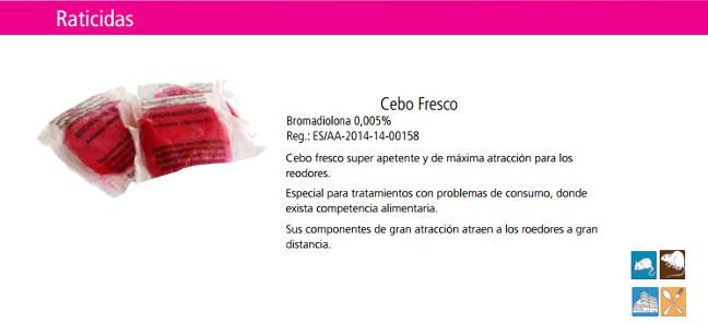 Raticida Ikebana Cebo Fresco 1Kg.