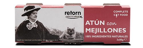 Retorn Lata de Atún con Mejillones para Gatos 80g