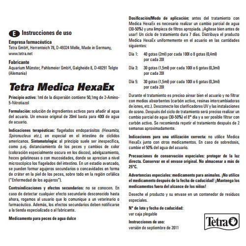 Tetra Medica HexaEx Tratamiento de la Hexamita