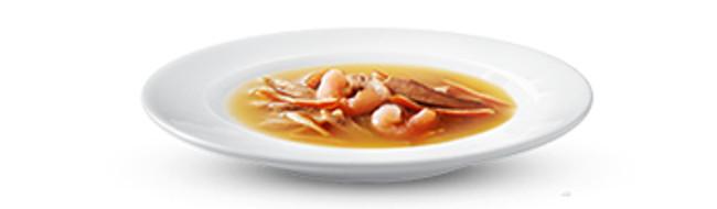 Purina Gourmet Crystal Sopa de Atún con Gambas y Atún con Anchoa