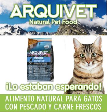 Pienso Arquivet Sterilized natural para gatos con pescado 1,5Kgs