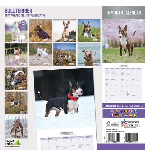 Calendario Bull Terrier 2019