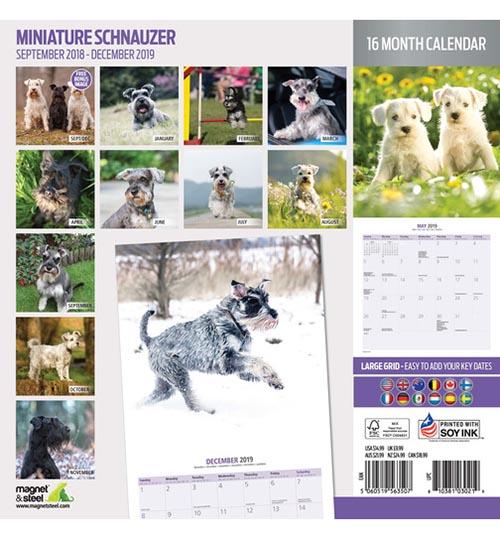 Calendario Schnauzer 2019