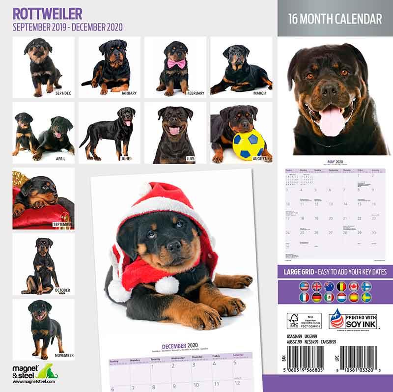 Calendario Rottweiler 2020