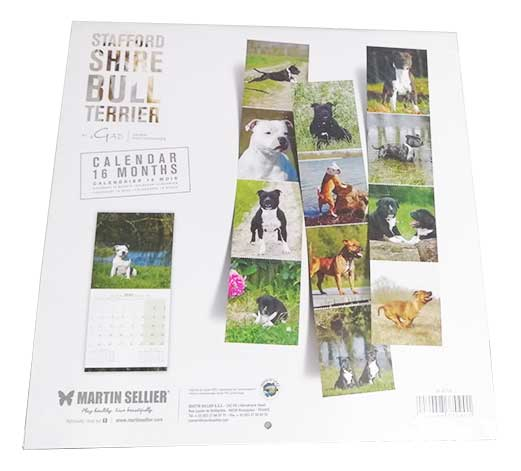 Calendario Staffordshire Bull Terrier 2020