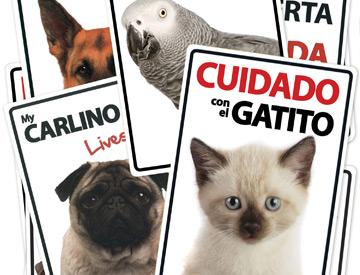Placa Flexible De Advertencia Cuidado Con El Perro