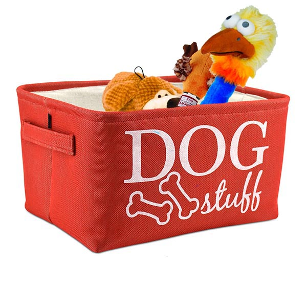 Cesta Atelier Dog Stuff Rojo Guarda Juguetes