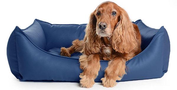 Cuna ecopiel negra desenfundable cama para perros
