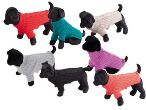 Jersey Terry lana suave rojo trenzado para perro