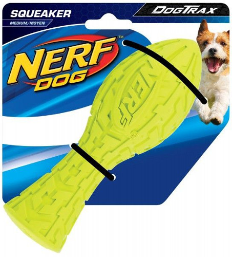 Juguete de goma Nerf Squeaker Dog Trax 18cm