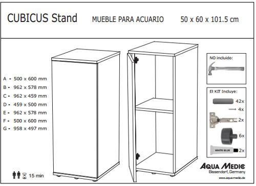 Mueble para Acuarios Cubicus Stand