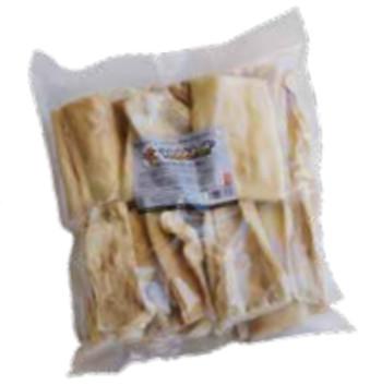 Snack natural tendón de cuero para perros bolsa 500grs